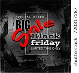 black friday sale background ... | Shutterstock . vector #720317287