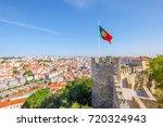 lisbon aerial view cityscape...   Shutterstock . vector #720324943