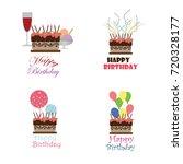 birthday vector logo design... | Shutterstock .eps vector #720328177
