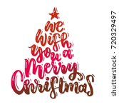 we wish you a merry christmas   ... | Shutterstock .eps vector #720329497