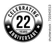 22 years anniversary logo.... | Shutterstock .eps vector #720343513