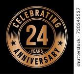 24 years anniversary logo.... | Shutterstock .eps vector #720343537