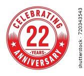 22 years anniversary logo.... | Shutterstock .eps vector #720343543