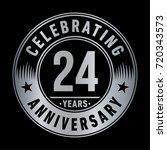 24 years anniversary logo.... | Shutterstock .eps vector #720343573