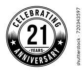 21 years anniversary logo.... | Shutterstock .eps vector #720343597
