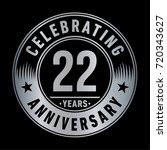 22 years anniversary logo.... | Shutterstock .eps vector #720343627