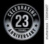 23 years anniversary logo.... | Shutterstock .eps vector #720343657