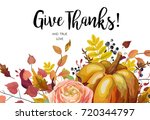 happy thanksgiving vector... | Shutterstock .eps vector #720344797