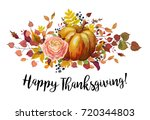 happy thanksgiving vector... | Shutterstock .eps vector #720344803