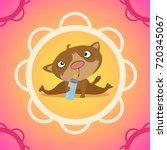 cute poster with a newborn...   Shutterstock .eps vector #720345067