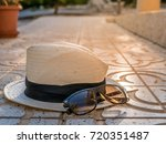 hat and sunglasses in the... | Shutterstock . vector #720351487