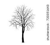tree silhouette on white... | Shutterstock .eps vector #720351643