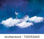 graphic watercolor digital...   Shutterstock . vector #720352603