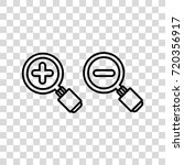 magnifying glass vector icon   Shutterstock .eps vector #720356917
