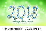 2018 happy new year background... | Shutterstock .eps vector #720359557