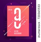 cool abstract numbers poster... | Shutterstock .eps vector #720365533