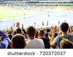 football  soccer fans support... | Shutterstock . vector #720372037