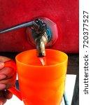 thai street food. old drinking...   Shutterstock . vector #720377527