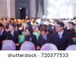 blurred soft of audience in... | Shutterstock . vector #720377533