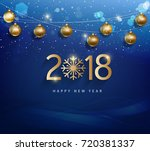 happy new year 2018 greeting... | Shutterstock .eps vector #720381337