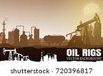 vector oil rig industry... | Shutterstock .eps vector #720396817