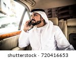 arabic man in his luxury car | Shutterstock . vector #720416653