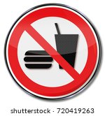 food and drinks are prohibited    Shutterstock . vector #720419263