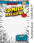 comic book cover. template... | Shutterstock .eps vector #720419677