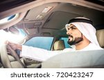 arabic man in his luxury car | Shutterstock . vector #720423247