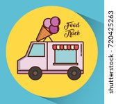 food truck design  | Shutterstock .eps vector #720425263