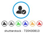 valid user rounded icon. style... | Shutterstock .eps vector #720430813