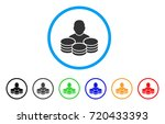 rich man rounded icon. style is ... | Shutterstock .eps vector #720433393