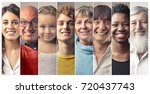 smiling people | Shutterstock . vector #720437743