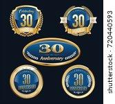anniversary badge set   Shutterstock .eps vector #720440593
