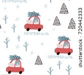 winter seamless pattern.... | Shutterstock .eps vector #720442333