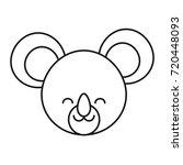 cute koala icon | Shutterstock .eps vector #720448093