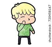 cartoon curious boy   Shutterstock .eps vector #720458167