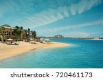 beach on the palm with atlantis ... | Shutterstock . vector #720461173