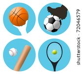 symbols or icons for basketball ... | Shutterstock . vector #72046579