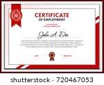certificate blank template... | Shutterstock .eps vector #720467053