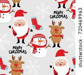 christmas seamless pattern | Shutterstock .eps vector #720469963