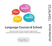 language school poster with... | Shutterstock .eps vector #720478723