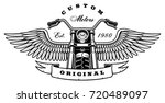 illustration of motorcycle with ... | Shutterstock .eps vector #720489097