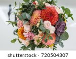 bright wedding bouquet of...   Shutterstock . vector #720504307