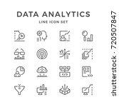 set line icons of data... | Shutterstock .eps vector #720507847