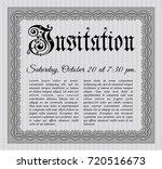 grey vintage invitation. beauty ...   Shutterstock .eps vector #720516673