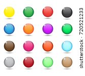 collection colorful glossy...   Shutterstock .eps vector #720521233