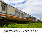 train wagons on the railway... | Shutterstock . vector #720525517