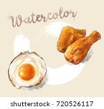 vector fast food images with... | Shutterstock .eps vector #720526117