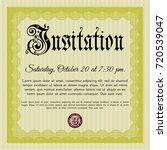yellow retro invitation...   Shutterstock .eps vector #720539047